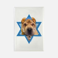 Hanukkah Star of David - Shar Pei Rectangle Magnet