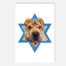 Hanukkah Star of David - Shar Pei Postcards (Packa