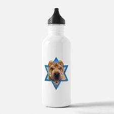 Hanukkah Star of David - Shar Pei Water Bottle