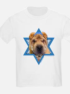 Hanukkah Star of David - Shar Pei T-Shirt