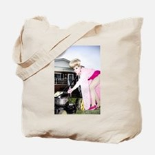 Priscilla Mowing Tote Bag