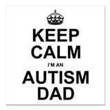 Autism dad Car Magnets