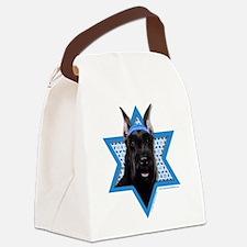Hanukkah Star of David - Schnauzer Canvas Lunch Ba