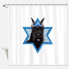 Hanukkah Star of David - Schnauzer Shower Curtain