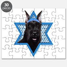 Hanukkah Star of David - Schnauzer Puzzle