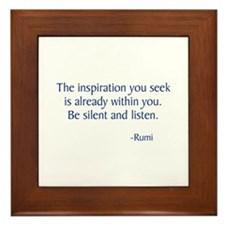 The Inspiration You Seek Framed Tile