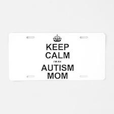 AutismMom Aluminum License Plate