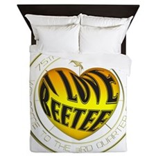 I Love Beetee Catching Fire Queen Duvet