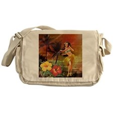 passion flower hawaii hula dancer Messenger Bag
