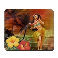 passion flower hawaii hula dancer Mousepad