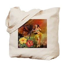 passion flower hawaii hula dancer Tote Bag