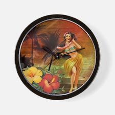 passion flower hawaii hula dancer Wall Clock