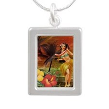 passion flower hawaii hu Silver Portrait Necklace