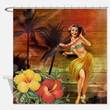 passion flower hawaii hula dancer Shower Curtain