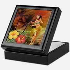 passion flower hawaii hula dancer Keepsake Box