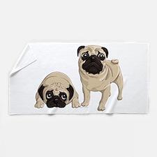 Pugs Beach Towel