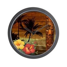 passion flower hawaii totem Wall Clock