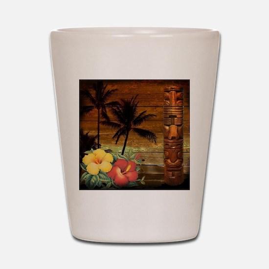 passion flower hawaii totem Shot Glass