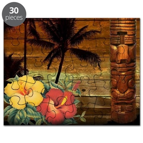 passion flower hawaii totem puzzle by listing store 30702168. Black Bedroom Furniture Sets. Home Design Ideas