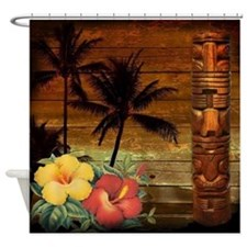 passion flower hawaii totem Shower Curtain