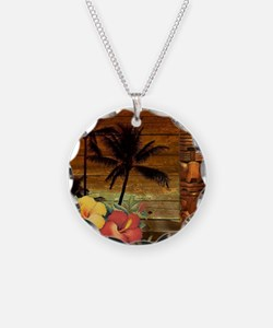 passion flower hawaii totem Necklace