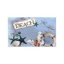 nautical seashells beach fashion 3'x5' Area Rug