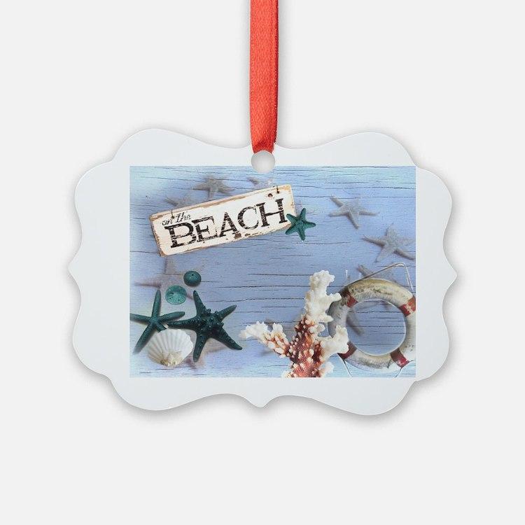 nautical seashells beach fashion Ornament