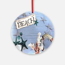 nautical seashells beach fashion Round Ornament