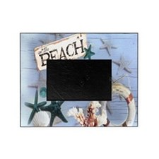 nautical seashells beach fashion Picture Frame
