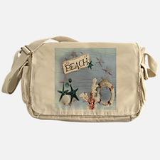 nautical seashells beach fashion Messenger Bag