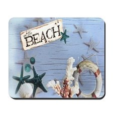 nautical seashells beach fashion Mousepad