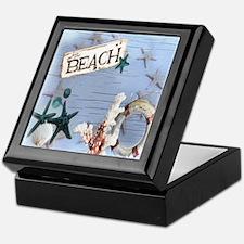 nautical seashells beach fashion Keepsake Box