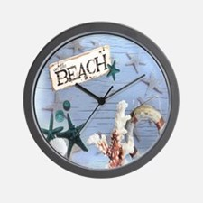 nautical seashells beach fashion Wall Clock