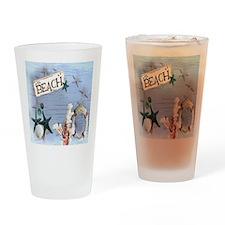 nautical seashells beach fashion Drinking Glass