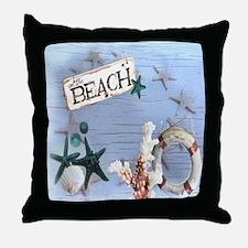 nautical seashells beach fashion Throw Pillow