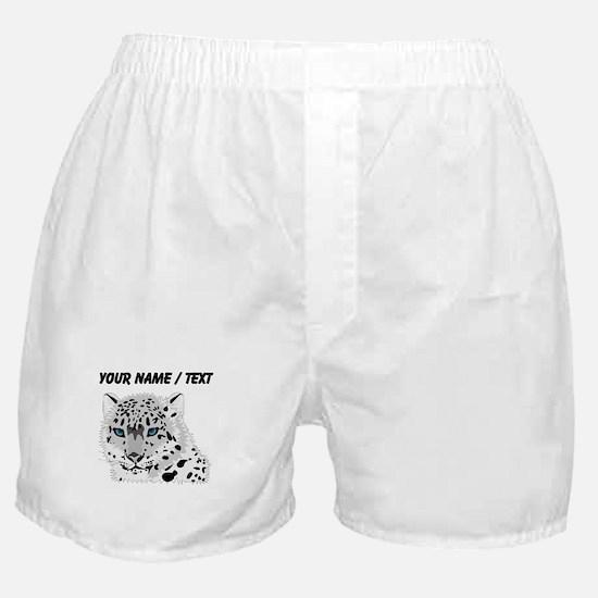 Custom Snow Leopard Boxer Shorts