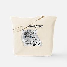 Custom Snow Leopard Tote Bag