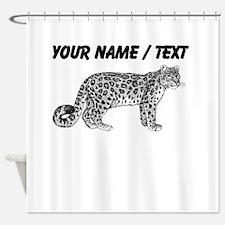 Custom Leopard Sketch Shower Curtain