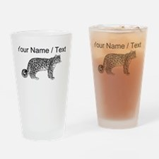 Custom Leopard Sketch Drinking Glass