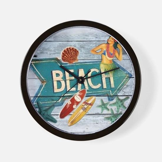 surfer beach fashion Wall Clock