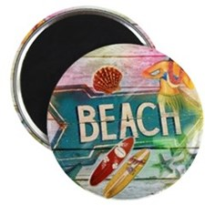 rainbow surfer beach  Magnet
