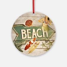 surfer beach fashion Round Ornament