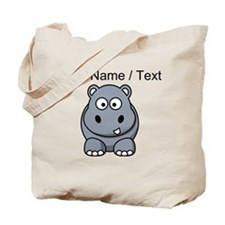 Custom Cartoon Hippo Tote Bag