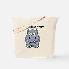 Custom Cartoon Hippo Tote Bag