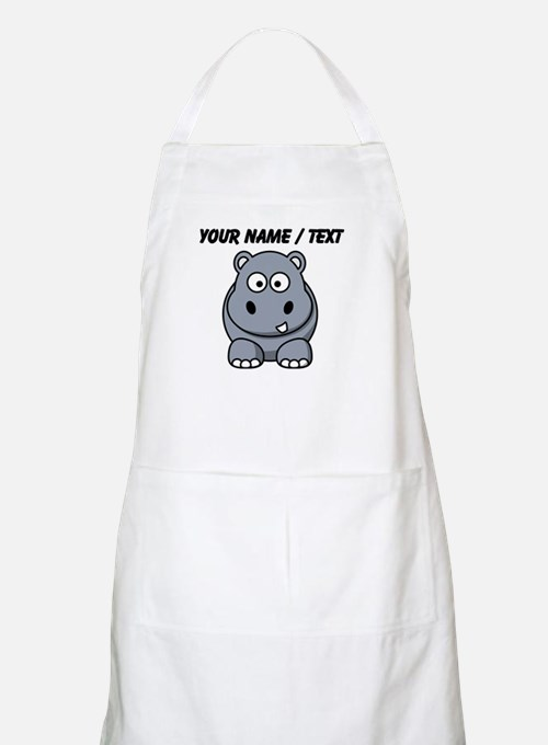 Custom Cartoon Hippo Apron