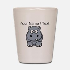 Custom Cartoon Hippo Shot Glass