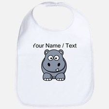 Custom Cartoon Hippo Bib