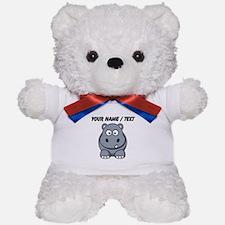Custom Cartoon Hippo Teddy Bear