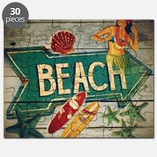 beach sign surfer Puzzle
