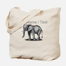 Custom African Elephant Tote Bag